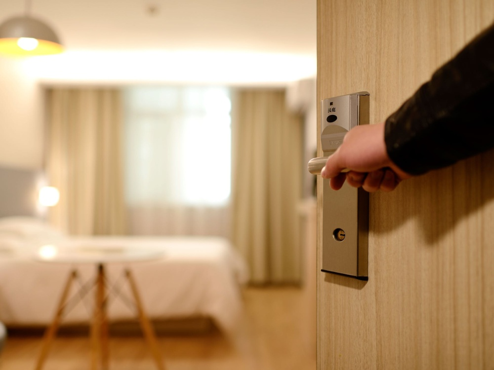 Hotel room door opening, assault and battery lawyer, accident lawyer