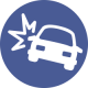 car crash icon MOTORCYCLE, BICYCLE & CAR WRECKS LAWYER, portland lawyer